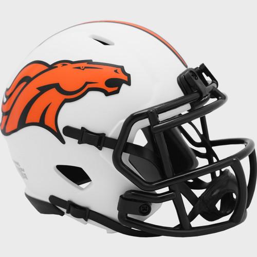 Denver Broncos Lunar White Revolution Speed Mini Football Helmet