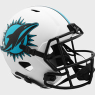 Miami Dolphins White 2021 LUNAR Speed Replica Full Size Football Helmet