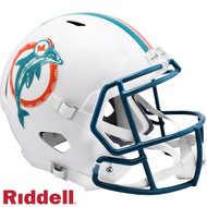 Miami Dolphins 1980 to 1996 Throwback SPEED Riddell Full Size Replica Football Helmet