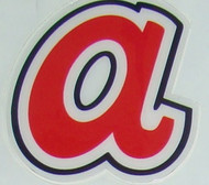 ATLANTA BRAVES THROWBACK a FULL SIZE HELMET 3M STICKER DECAL