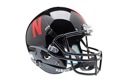 Nebraska Cornhuskers Alternate Black Schutt Full Size Replica XP Football Helmet