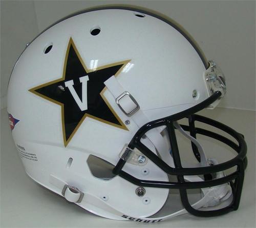 Vanderbilt Commodores Alternate White Schutt Full Size Replica XP Football Helmet