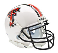 Texas Tech Red Raiders Alternate White Schutt Mini Authentic Helmet