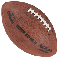 Super Bowl II (Two 2) Green Bay Packers vs. Oakland Raiders Official Leather Authentic Game Football by Wilson