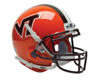 Virginia Tech Hokies ORANGE Schutt Mini Authentic Helmet