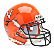 Virginia Cavaliers Alternate Orange Schutt Mini Authentic Helmet