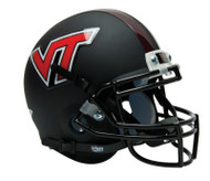 Virginia Tech Hokies ALTERNATE BLACK MATTE Schutt Mini Authentic Helmet