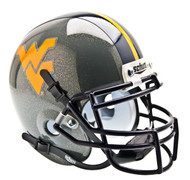 West Virginia Mountaineers Alternate Gray Schutt Mini Authentic Helmet