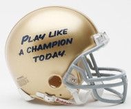 Notre Dame Fighting Irish Play Like A Champion Today VSR4 Mini Helmet