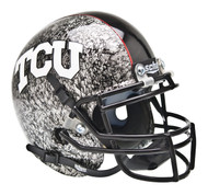 TCU Texas Christian Horned Frogs Alternate Silver Slate Schutt Mini Authentic Helmet