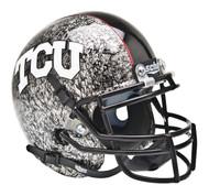 TCU Texas Christian Horned Frogs Alternate Silver Slate Schutt Mini Authentic Helmet
