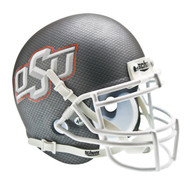 Oklahoma State Cowboys Carbon Fiber Schutt Mini Authentic Helmet