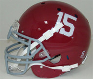 Alabama Crimson Tide Schutt Full Size Authentic #15 Helmet