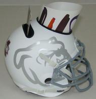 Mississippi State Bulldogs Alternate White Mini Helmet Desk Caddy by Schutt