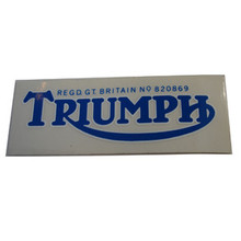 Triumph Decal Sticker, Blue Color, Triumph T100 Motorcycles, 60-0068A