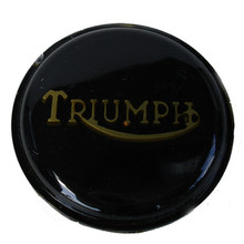 Tank Top Badge, Black/Gold, Triumph Logo, Triumph Motorcycles, 83-8656