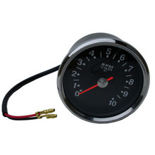 Tachometer, Black Face, 4:1 Ratio, 99-0166, Emgo 58-43636