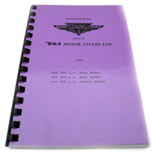 BSA Parts Book, 1964 A50 Star, A65 Star, A65 Rocket Motorcycles