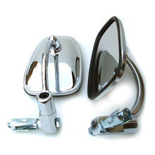 Mirror Set, Bar End, Chrome, 7/8 Inch Handle Bar, BSA, Norton, Triumph, Emgo 20-34000