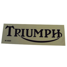 Triumph Sticker, Black/White, Triumph Motorcycles, 24-3004