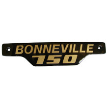 Bonneville Side Badge / Emblem, Gold and Black, Triumph Motorcycles, 83-7317