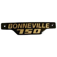 Bonneville Side Badge / Emblem, Gold and Black, Triumph Motorcycles, 83-7317