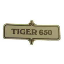 Sticker/Decal, Tiger 650, 1972 Triumph TR6R Motorcycles, 60-3723