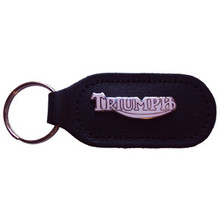 Key Chain Fob, Triumph in White Color, Triumph Motorcycles, 24-1003