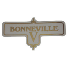 Bonneville V Transfer Decal, Triumph Motorcycles, 60-3950
