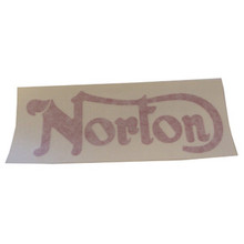 Red Norton Sticker, Norton Motorcycles, 24-2013