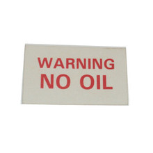 Warning No Oil Label, BSA, Norton, Triumph Motorcycles, 62-0140