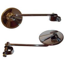 """Mirror Set, 4"""" Mirror, 10""""stem, BSA, Norton, Triumph, Emgo 20-06810"""