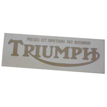 Triumph Decal Sticker, Gold Color, Triumph T100 Motorcycles, 60-0068