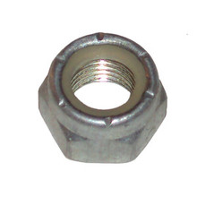 Nut, Chaincase Center Stud, Hex Head, 3/8 x 24, Nylock, Plated, Norton Motorcycles, 060397