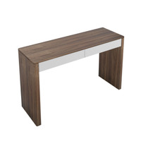 TAYLOR Console Walnut Veneer With White Fronts
