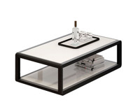 FLORENCE Coffee table Black Oak and White Gloss