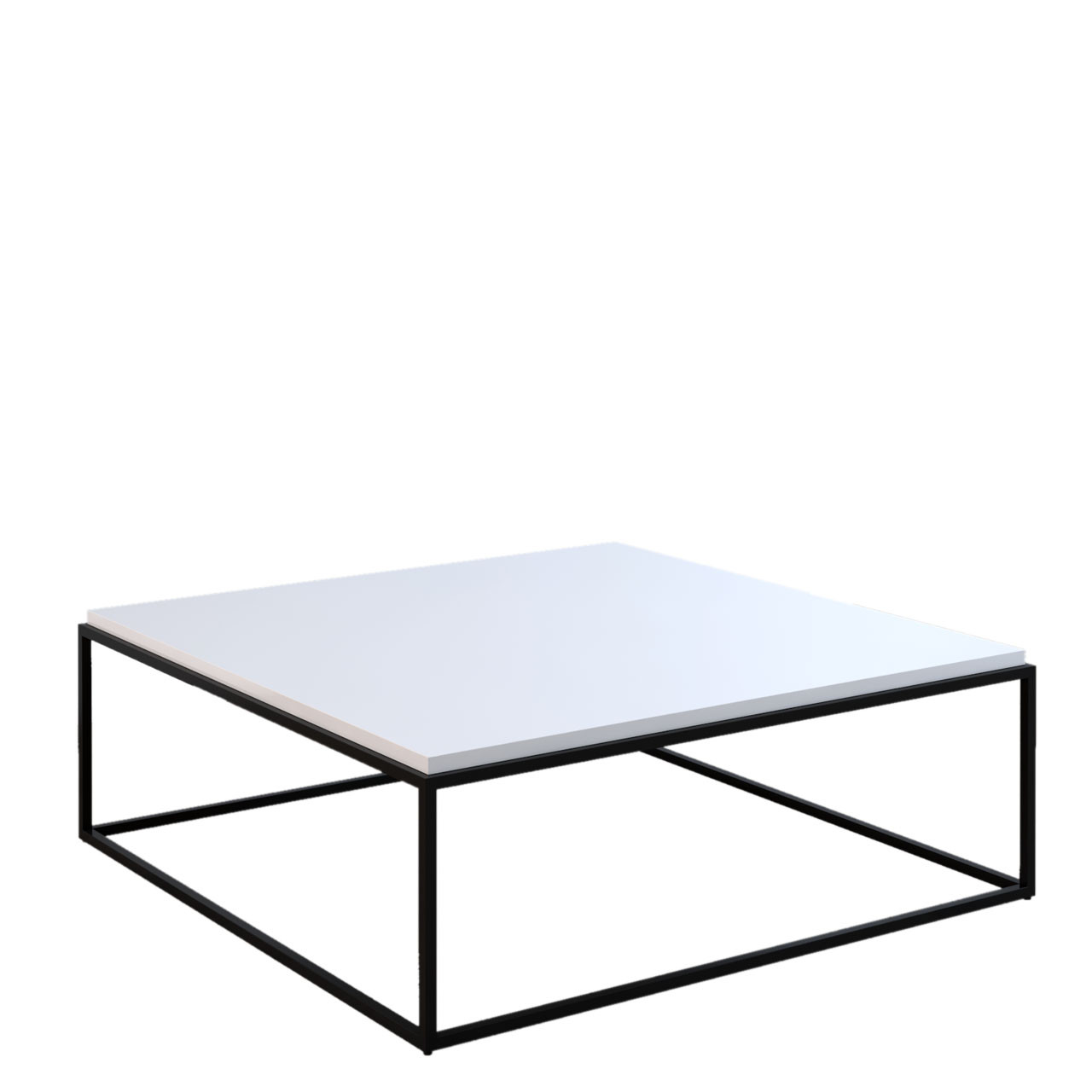 Grid Square Coffee Table White Gloss With Black Legs Cityside Furniture