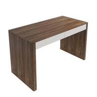 TAYLOR Desk Walnut with White