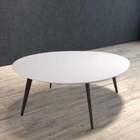 BRANDO Coffee Table with Black Legs