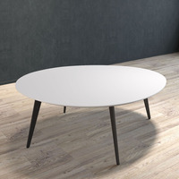 BRANDO Coffee Table with Black Legs