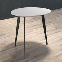 BRANDO Lamp Table with Black Legs