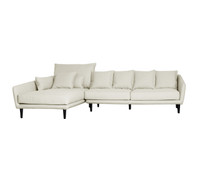 TORONTO 2 Seater Sofa & Chaise Left  (CREAM WITH MUSHROOM FLECK_Heavy Weave)
