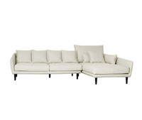 TORONTO 2 Seater Sofa & Chaise Right (CREAM WITH MUSHROOM FLECK_Heavy Weave)