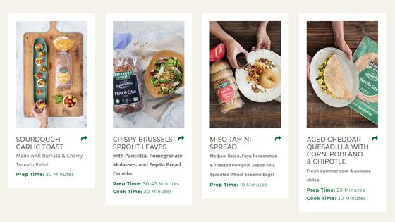 collage of alvarado recepies photos using their bread