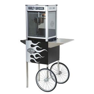 H-D® Metallic Flames Popcorn Machine w/Cart