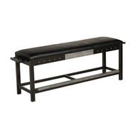 Vintage black H-D Bar & Shield Flames Spectator Bench (closed)