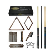 Imperial Gold Billiard Accessory Kit, Antique Walnut