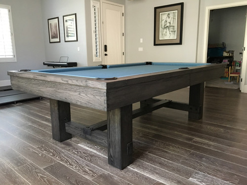 Gray Wood Reno Pool Table 8 Foot Pool Table For Sale