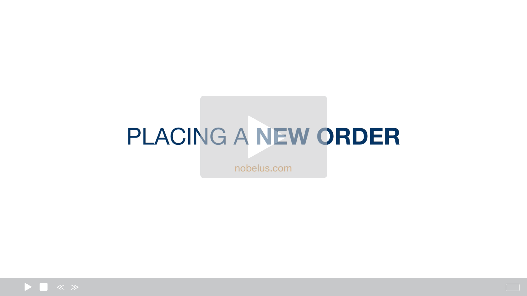 Placing A New Order