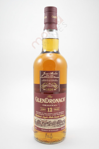 Glendronach Original 12 Year Old Single Malt Scotch Whisky 750ml